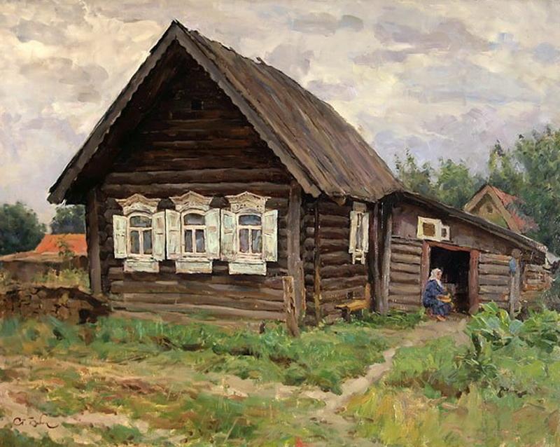 русские избы в картинах художников такие как украшают