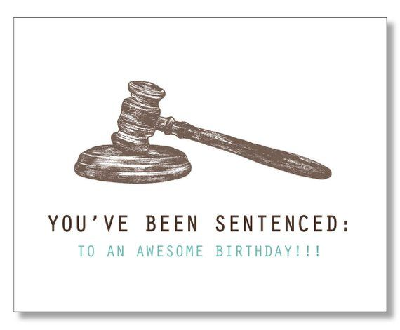 HILARIOUS LAWYER BIRTHDAY Card Judge Law Student Paralegal Order In The Court Ex