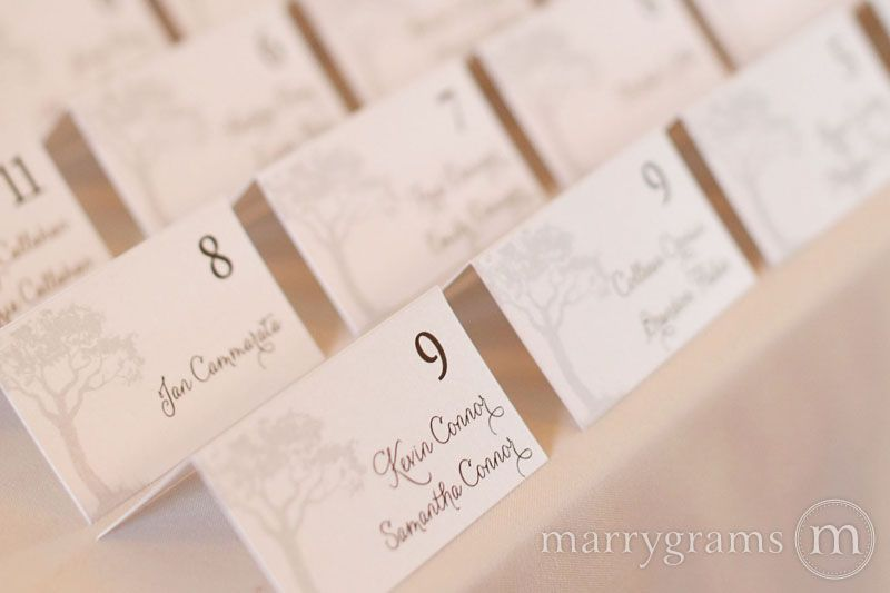 Name Cards For Wedding Reception Escort Place Card Thick Style