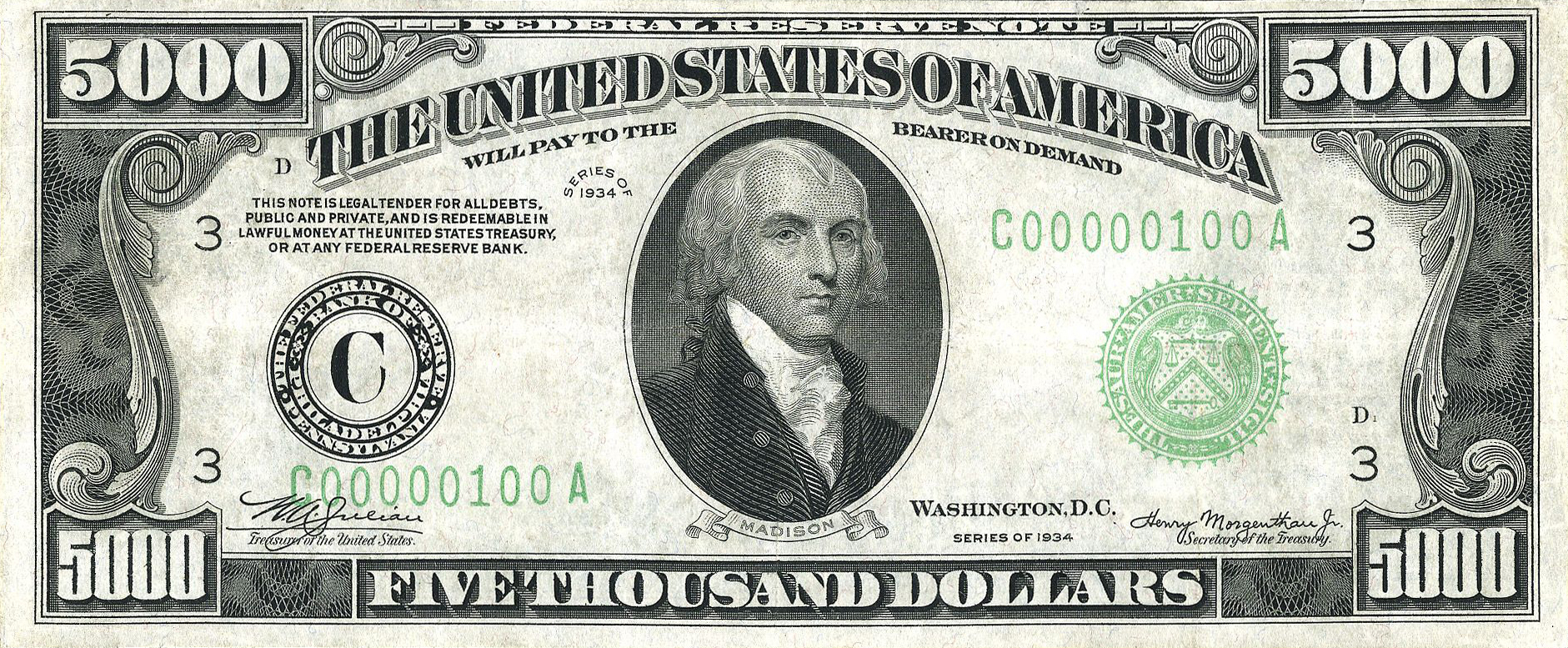 U S Bills You Didn T Know Existed Can Anyone Make Change For A 100 000 Cube Breaker Thousand Dollar Bill 5000 Dollar Bill Dollar