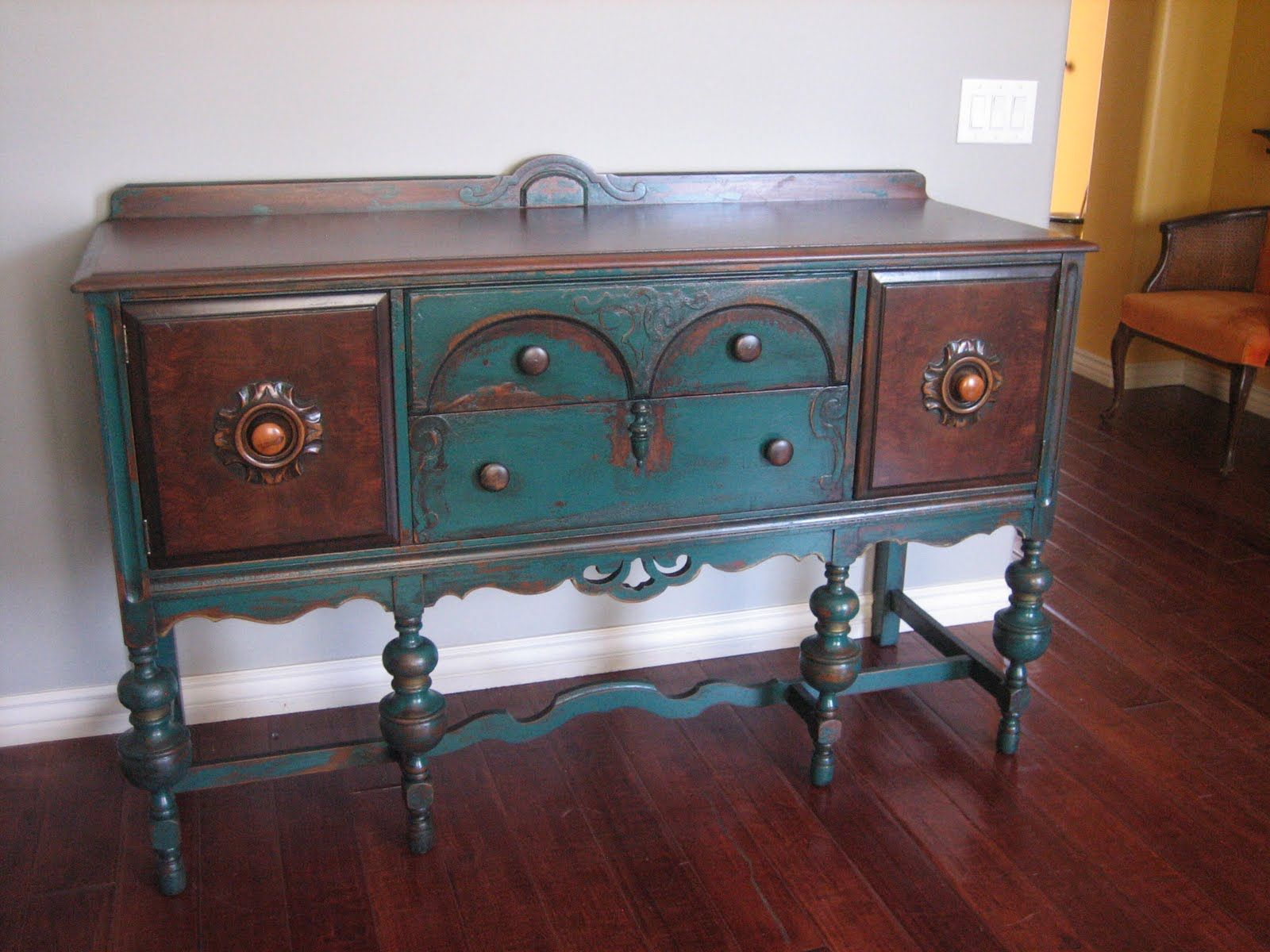 Painted buffet table furniture - Painted Buffets And Sideboards Euro Paint Finishes Chandler Az Arizona Furniture Refinishing Buffet