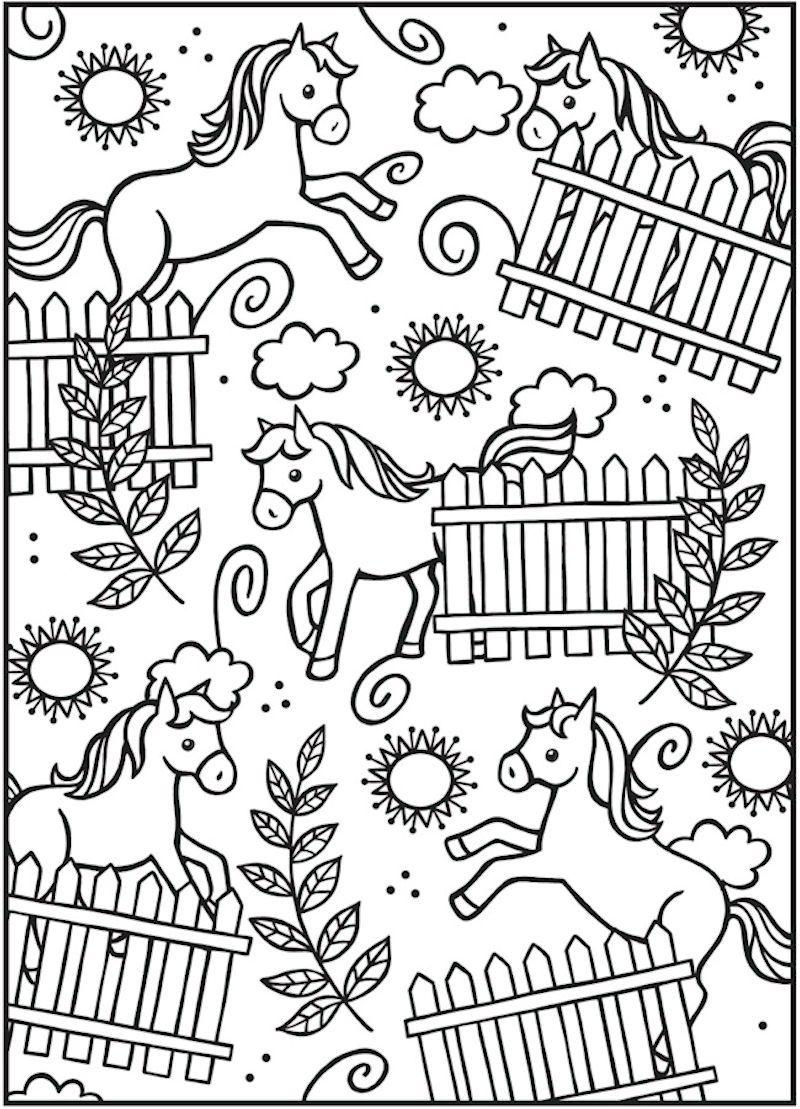 Dover spark horses coloring page mandala u malvorlagen pinterest