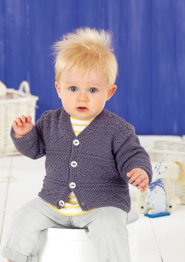 Babies and Boys Sweater and Cardigan in Sirdar Snuggly Baby Bamboo ...