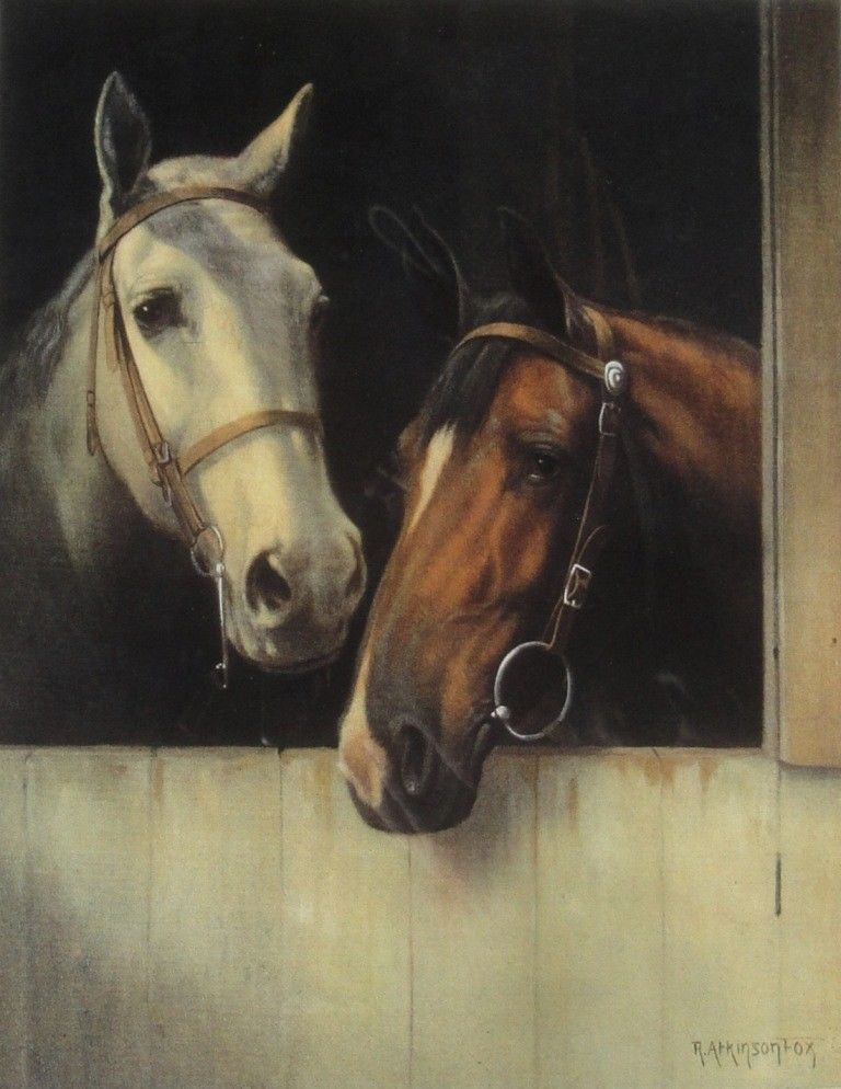 Spick and Span (Horses) : R. Atkinson Fox : Fine Art Giclee Print #VintageCommercialArt