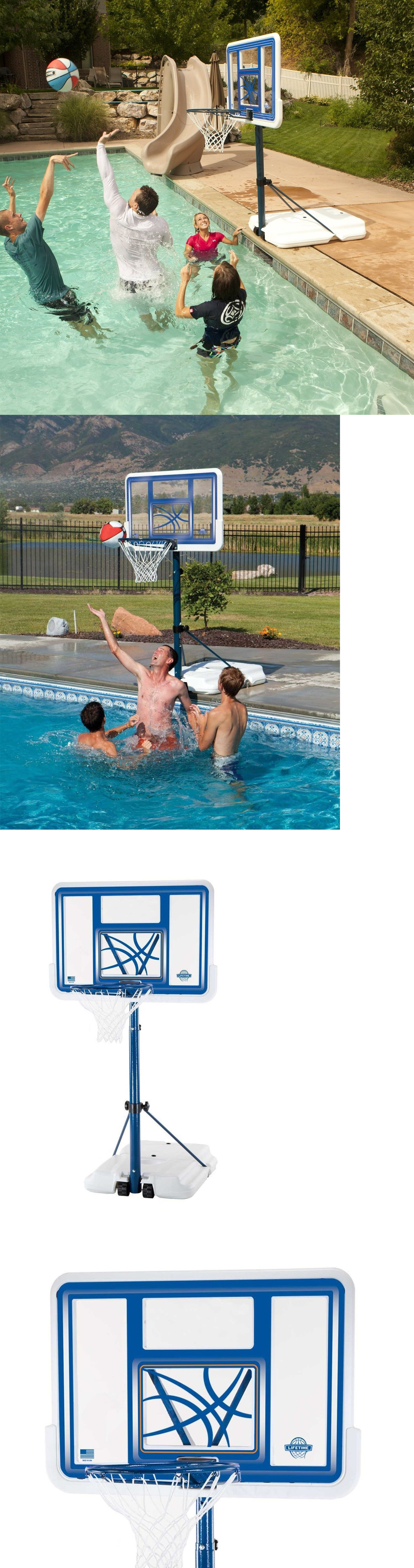 backboard systems 21196 pool basketball hoop goal net games sports