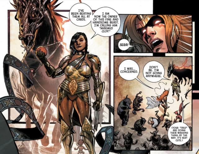 From Angela: Asgard's Assassin #1 art by Phil Jimenez