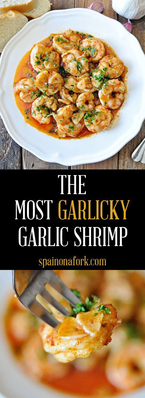 How to Make the Most Garlicky Spanish Garlic Shrimp Ever #garlicshrimprecipes
