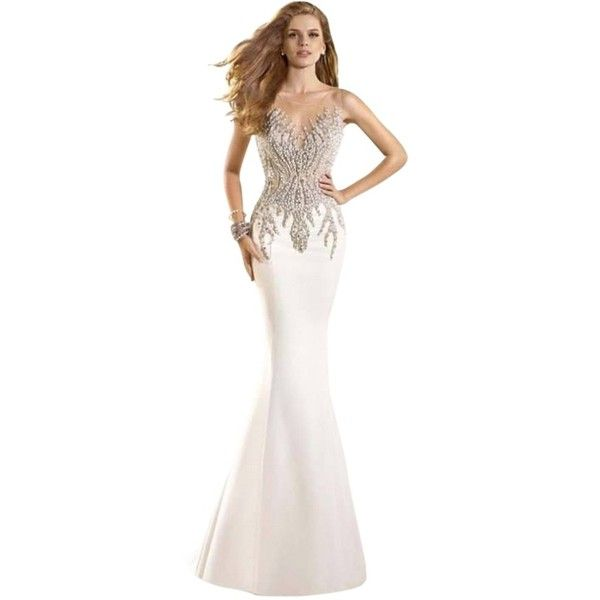 Pre-owned Tarik Ediz Ivory Evening Gown Wedding Gown Dress ($859 ...