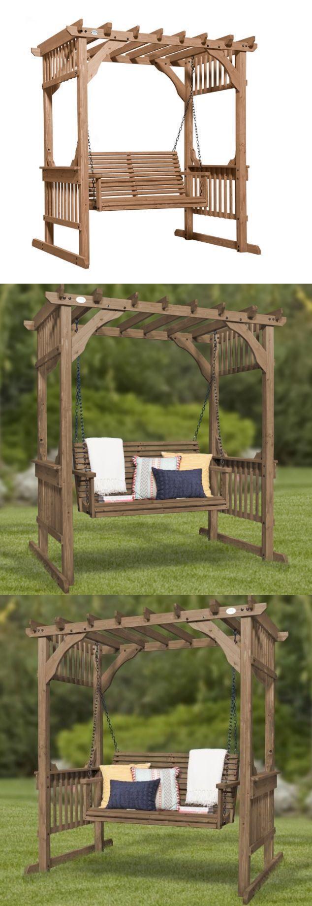 Pergolas pergola swing cedar outdoor patio garden backyard