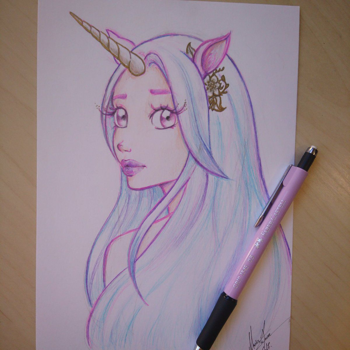 How To Draw A Unicorn Girl - How to Wiki 9