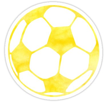 Yellow Soccer Ball Sticker By Gracehertlein In 2020 Girl Stickers Soccer Stickers