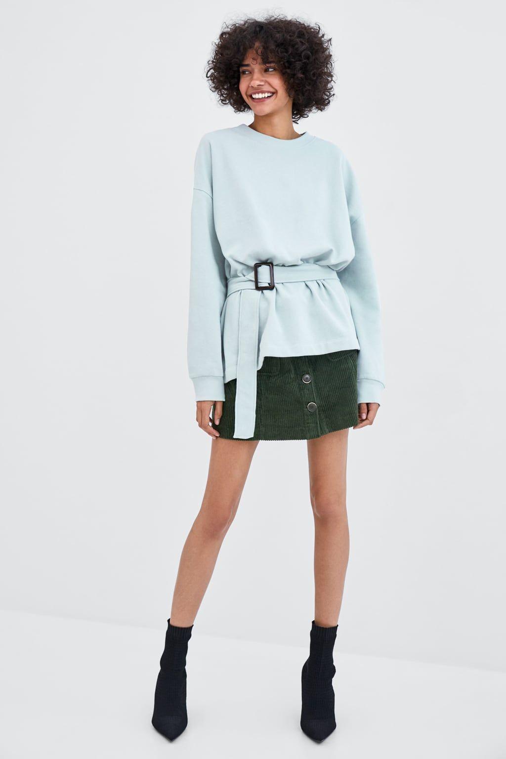 En Oversized Sweatshirt With Belt 2019Sudaderas E29eDHIWY