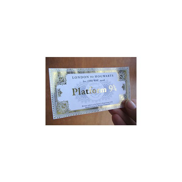 Curious Goods » Platform 9 3/4 Ticket found on Polyvore