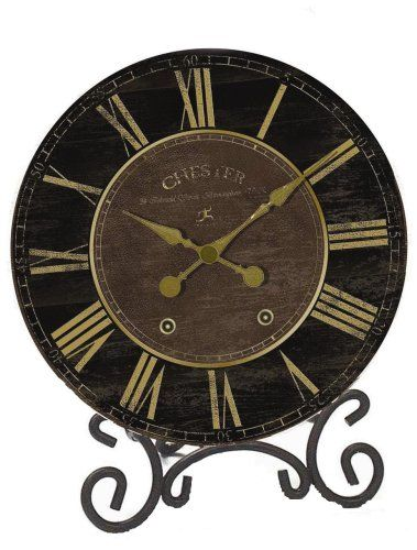Infinity Instruments The Parlor Chester Black Gold Table Clock