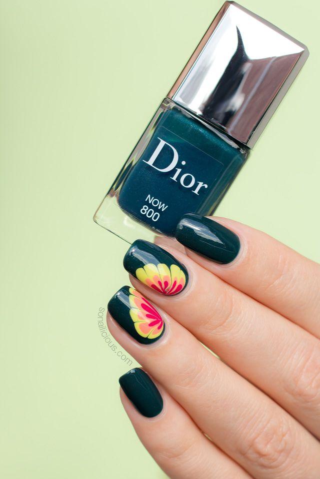 Marble Flower Nail Design ft. Dior Now | Inspiración