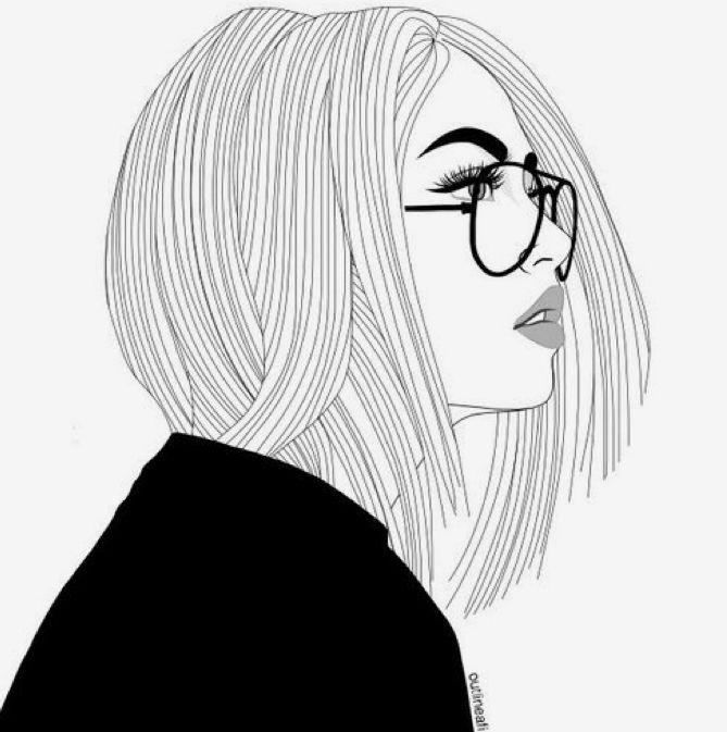 Make Art Not War óculos Desenho Esboço De Menina E