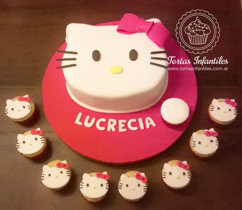 Torta y cupcakes de Hello Kitty