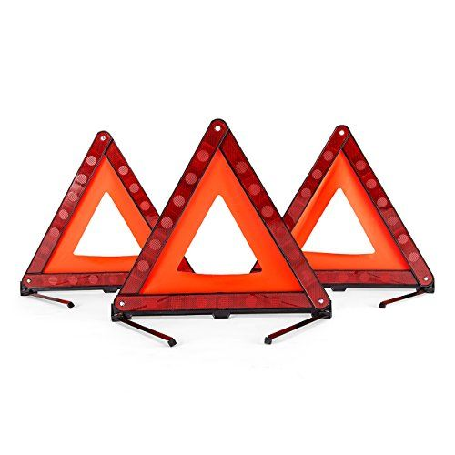 Dedc 3 Pack Warning Triangle Foldable Safety Triangle Triple Warning