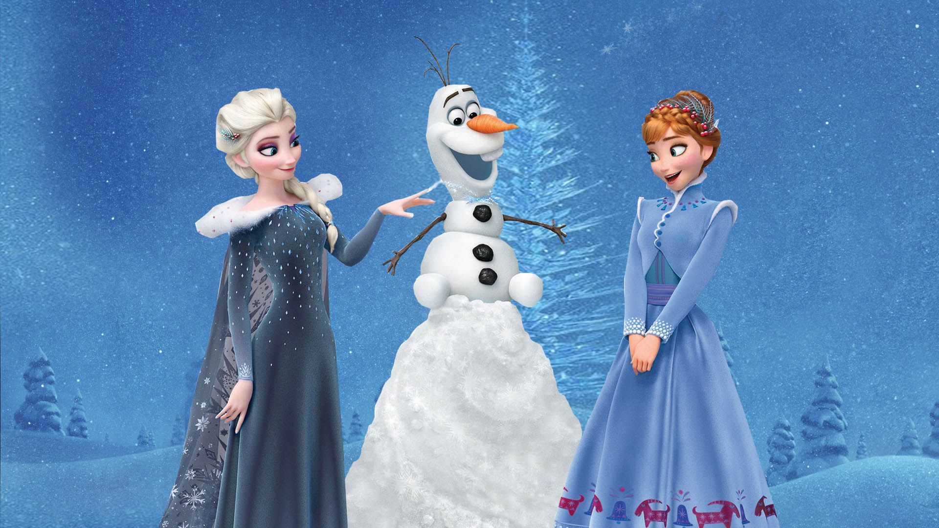 Olaf S Frozen Adventure Anna Elsa Wallpaper With Images Olaf