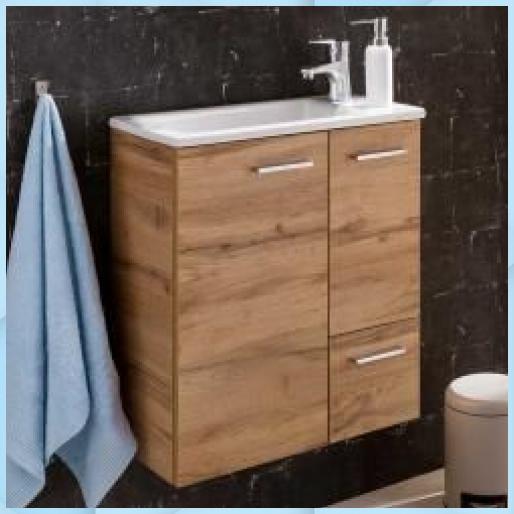 Kleiner Waschtisch In Wildeichefarben 50 Cm Breit Basil Waschtisch Holz Basil Breit Kleiner In 2020 Waschtisch Klein Waschtisch Holz Waschtisch Holz Unterschrank