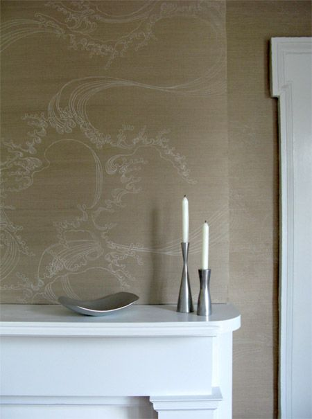 Japanese printed sisal wallpaper, stunning. John Mahoney