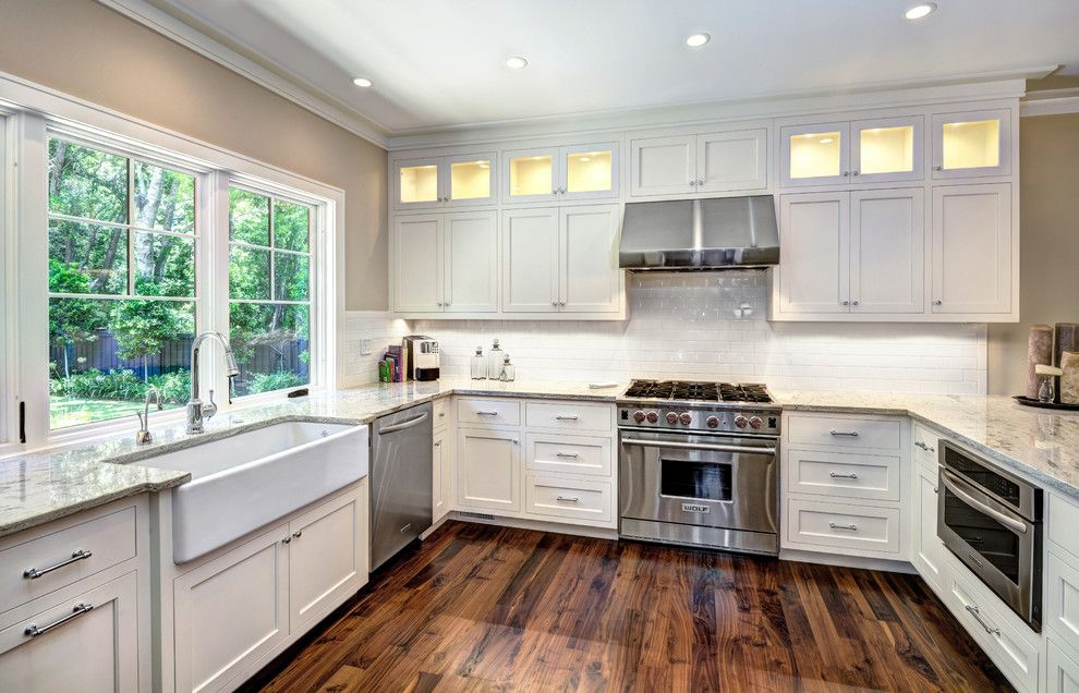 Exceptionnel Wolf 36 Gas Range Kitchen Transitional With Ceiling Lighting Kitchen  Peninsula