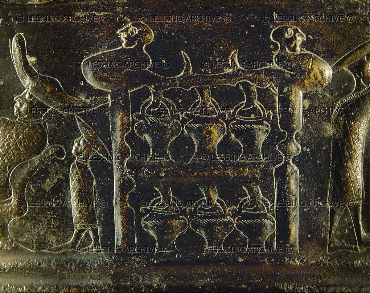 HALLSTATT CULTURE SITULA 5TH BCE Rack with pails, probably ritual ...