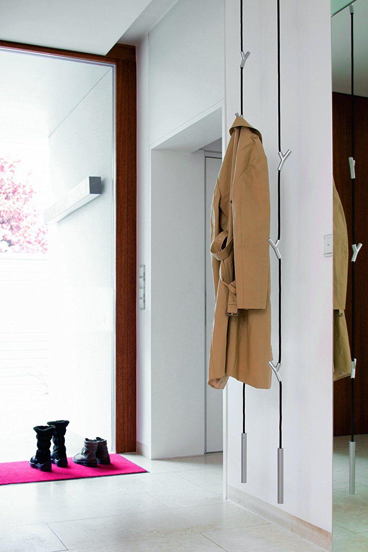 Wardrope Garderobe Seil Schwarz 4 Haken Weiß Casas Cabide Casa Rural