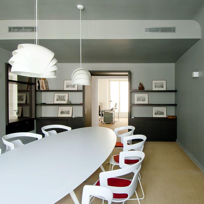 salle de r union design pour des bureaux bookshelves pinterest home staging room et staging. Black Bedroom Furniture Sets. Home Design Ideas