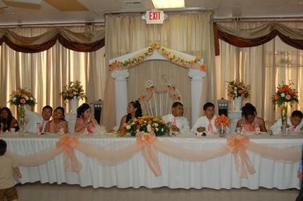 Quinceanera Hall Decorations Pink Reception Hall ...