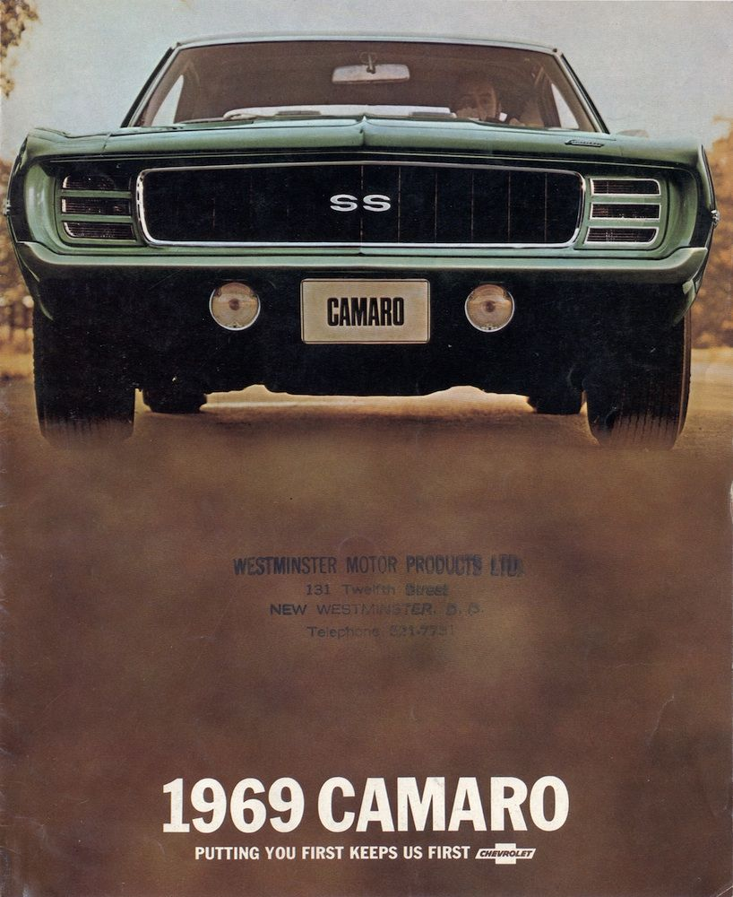 Gm 1969 Chevy Camaro Sales Brochure Muscle Cars Camaro Classic