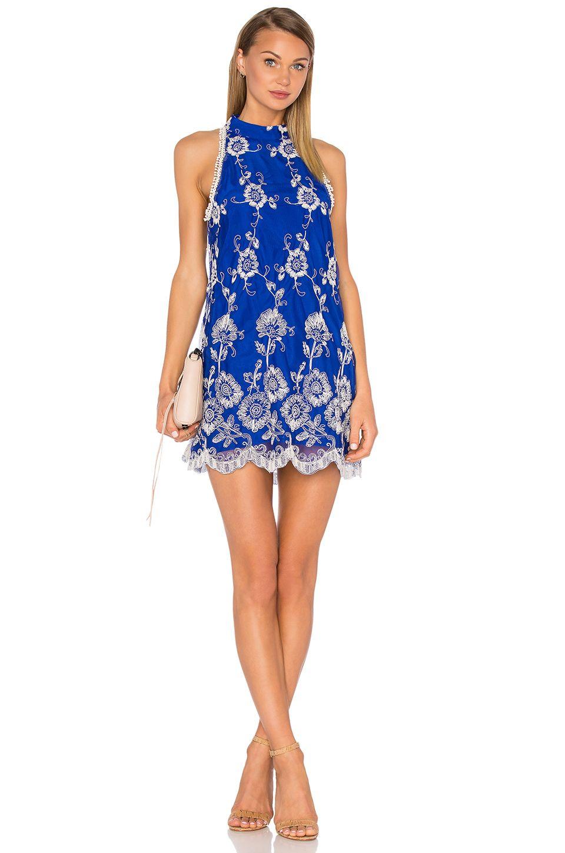 Flannel homecoming dress  Lovers  Friends Moonlit Dress in Marine Blue  REVOLVE  Dresses