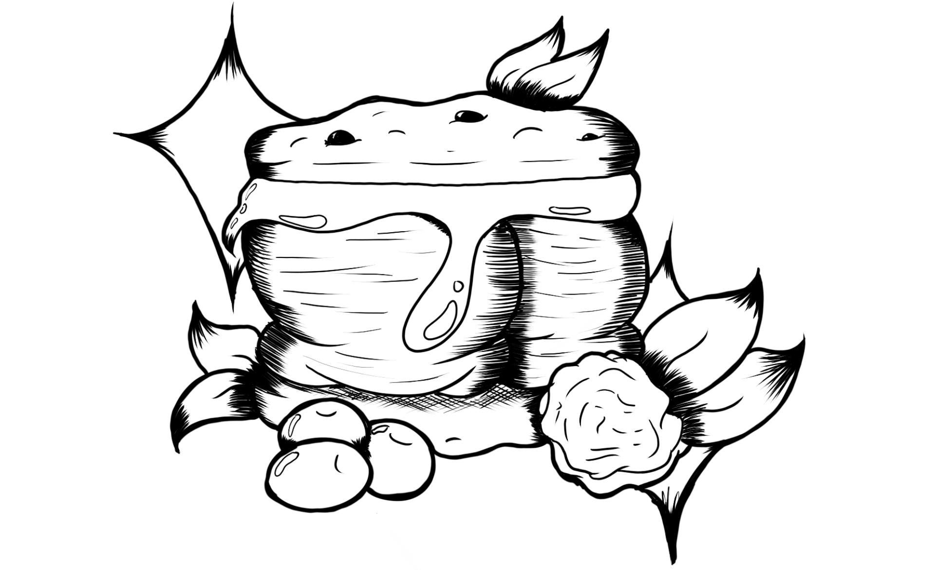 Ice Cream Sandwich Coloring Page By Vgdraw On Etsy Coloring