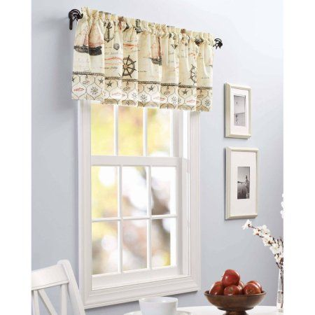 Better Homes And Gardens Nautical Kitchen Curtain Curtains Set Of 2 Or Valance