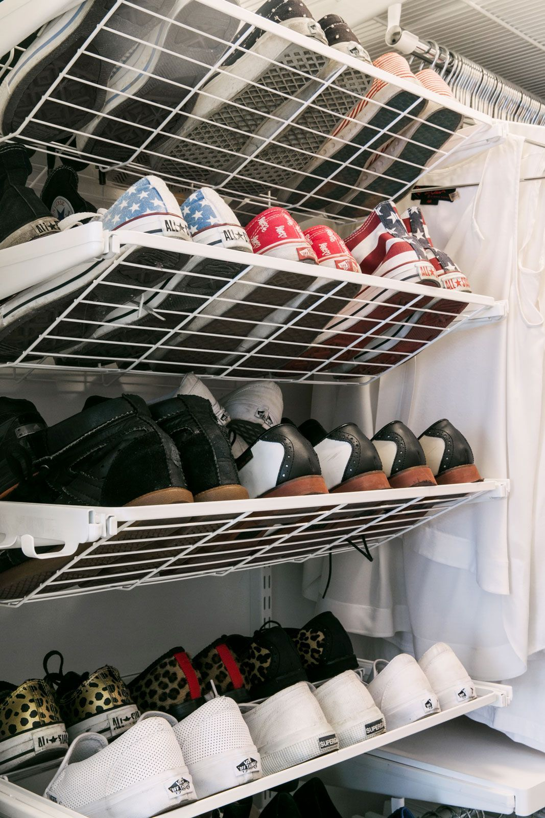 How To Organize Your Messy, Crowded Closet. Shoe Closet OrganizationShoe  Rack ...
