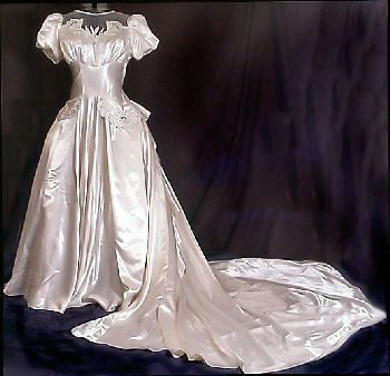 Civil War era wedding dress.