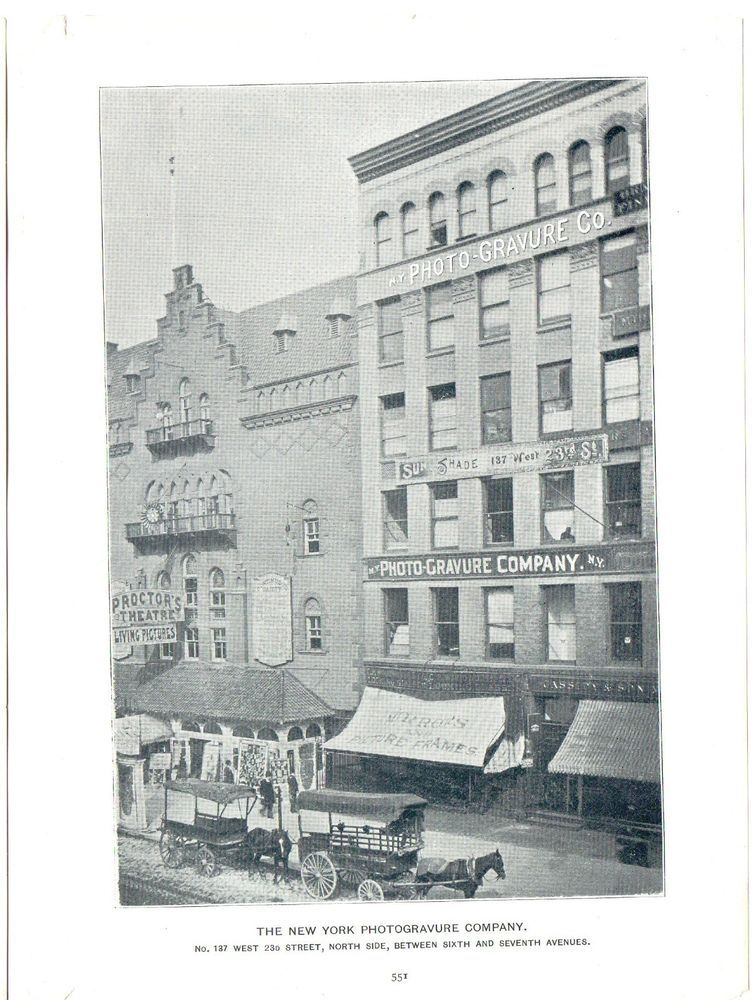 1895 Photographic Print Illustration New York Photogravure Company ...
