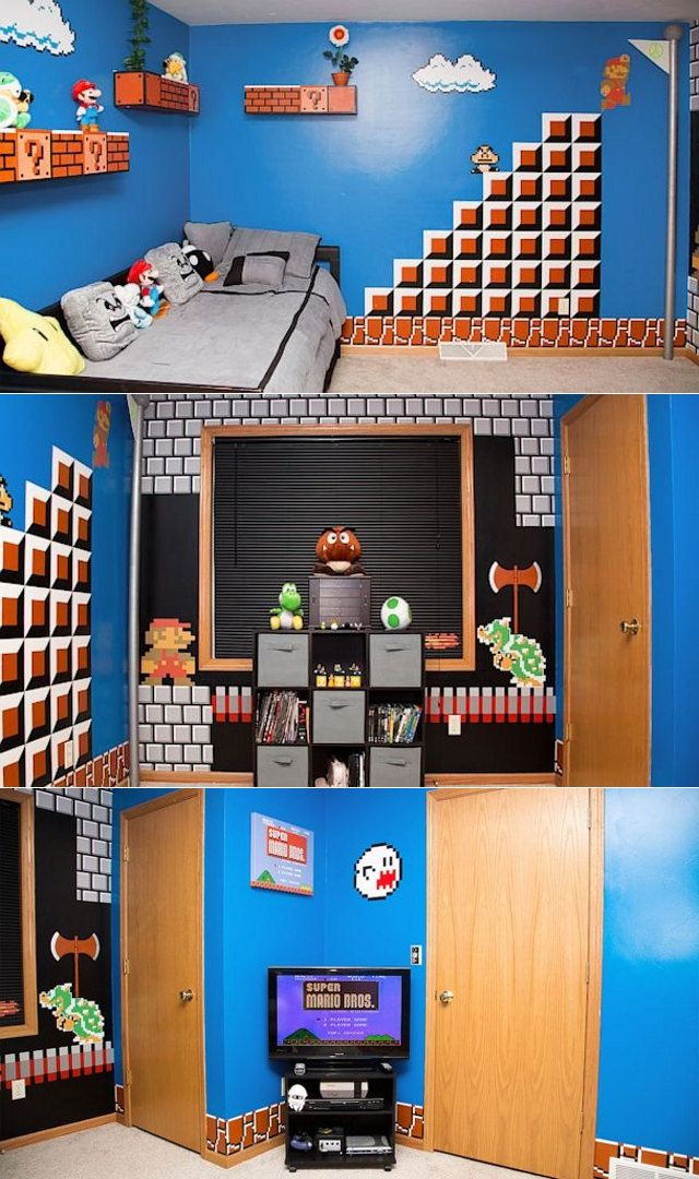Totally Awesome Super Dad Creates Super Mario Themed