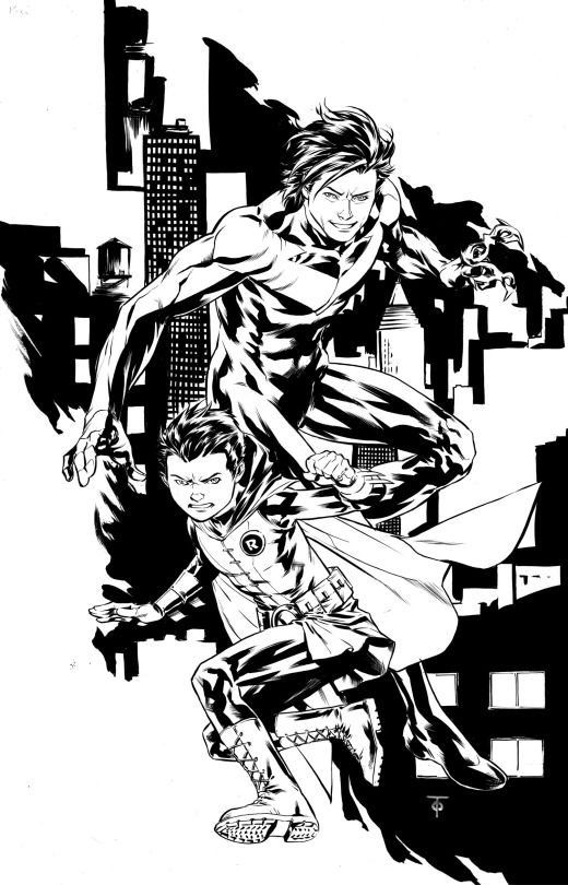 Nightwing and Robin by Marcus To
