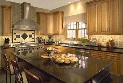 natural maple cabinets with black granite - Google Search ... on Kitchen Backsplash With Natural Maple Cabinets  id=90494