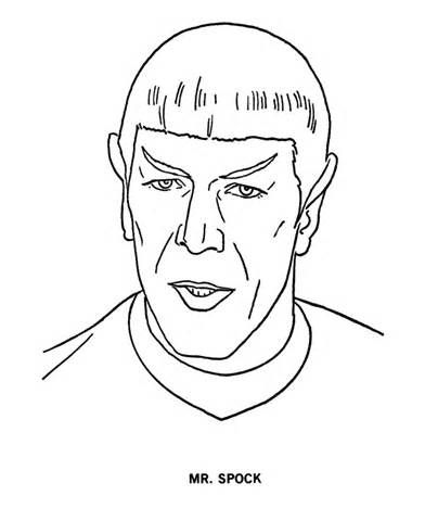 Spock Coloring Pages Coloring Pages Star Trek Printables Coloring Pages Star Trek