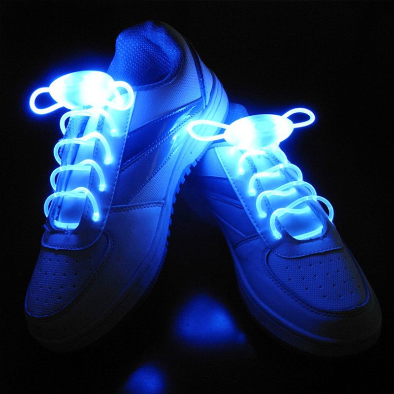 1Pair Childrens Led Shoelace 3 Modes  Shoe lace Skating Running Lights Shoe Care & Repair Household & Laundry Supplies