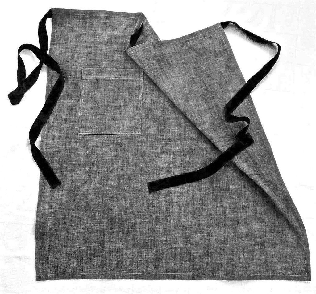 White apron melbourne - Designer Half Apron Unisex Chambray