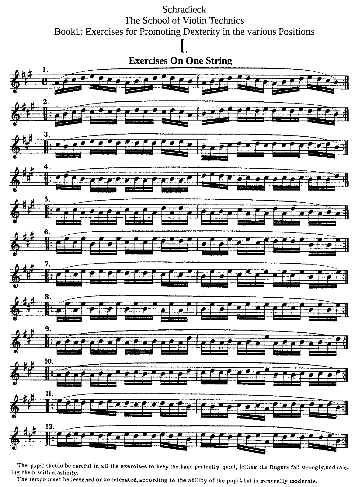 School of Violin Technics (Schradieck, Henry) - IMSLP/Petrucci Music