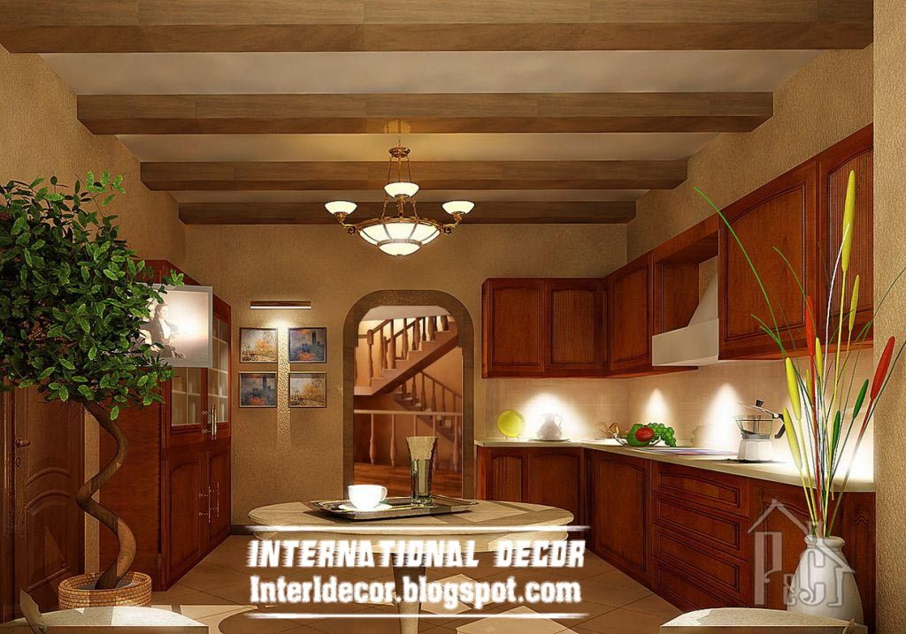 rustic kitchen ceiling false design for classic kitchens | kitchen ...