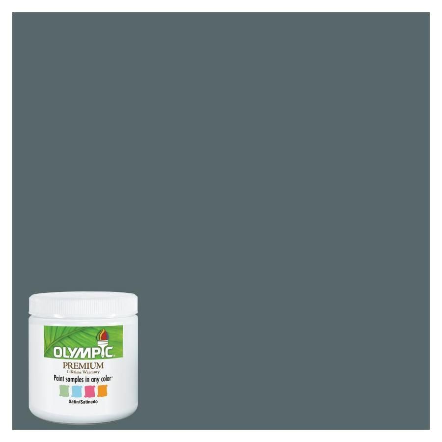 shop olympic 8 oz lava gray interior satin paint sample at on lowes paint colors interior gray id=90140