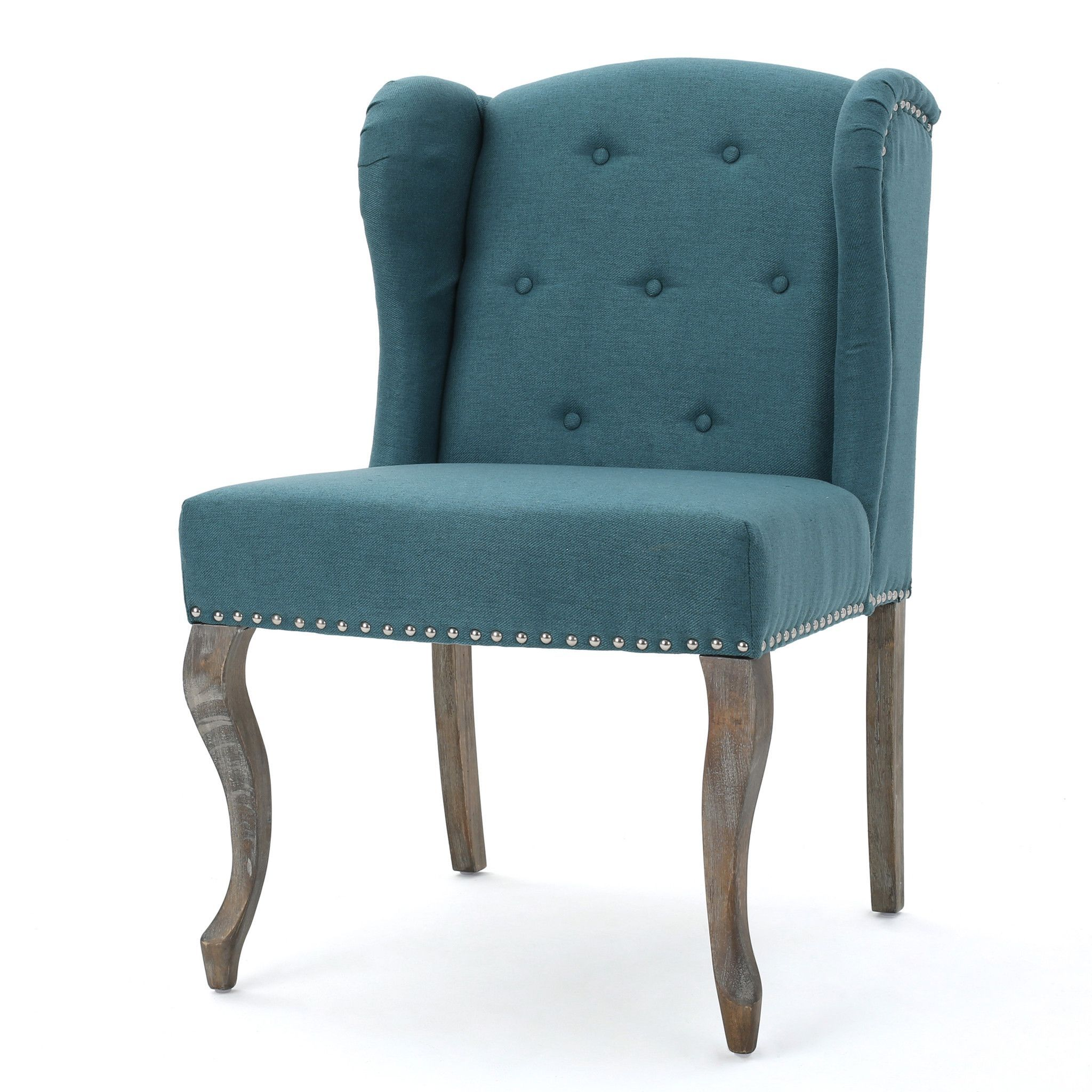 Asheville Modern Fabric Wingback Chair