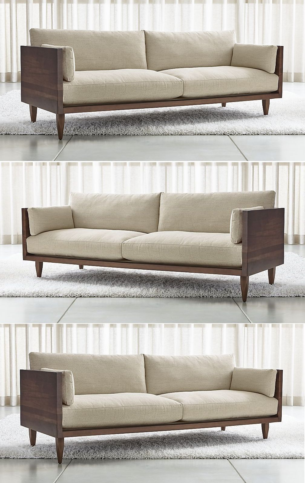 Exposed Wood Frame Sofa For Living Room 2019 (With Images