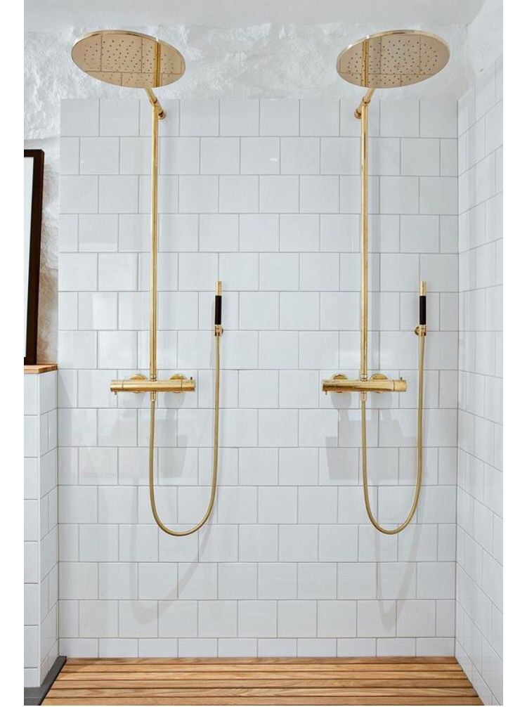 Gold Shower Fixtures Bathroom Decor Beautiful Bathrooms Ideal Bathrooms