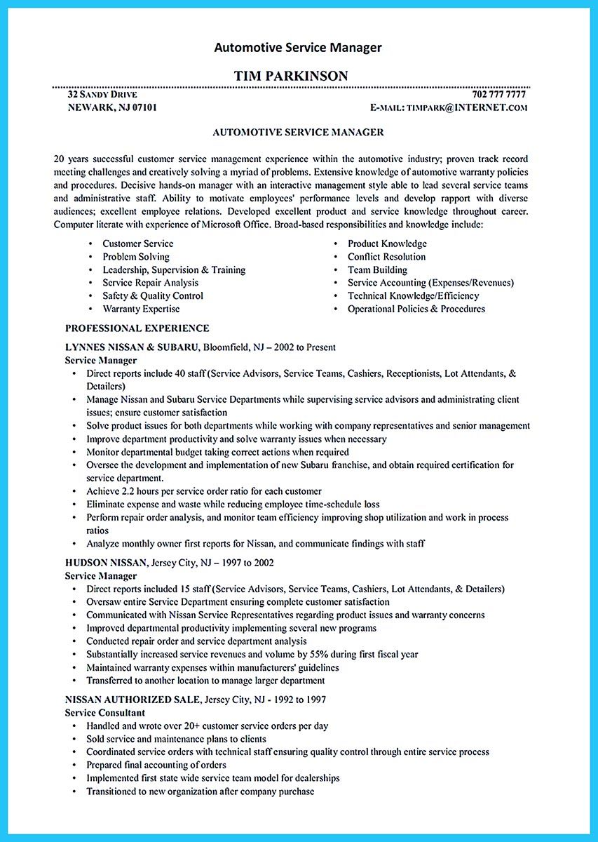 Before Starting To Write An Auto Technician Resume You Need To Learn How To Write It Well In This Case Som Resume Objective Examples Resume Objective Resume